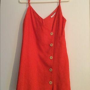 Lush red cotton dress